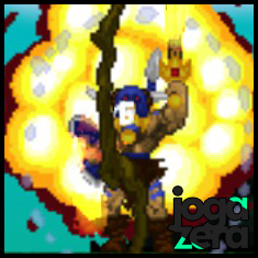 A espada de fogo é seu quarto item. Causa muito dano e aumenta o alcance de seus golpes.
