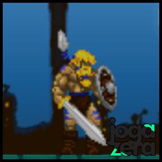 O escudo de madeira é seu primeiro item. Permite a defesa de 2 ataques antes de quebrar.