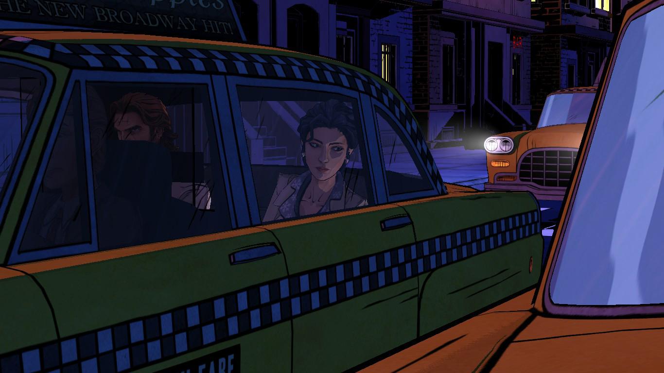 Um simples diálogo no táxi desperta interesse no jogador.