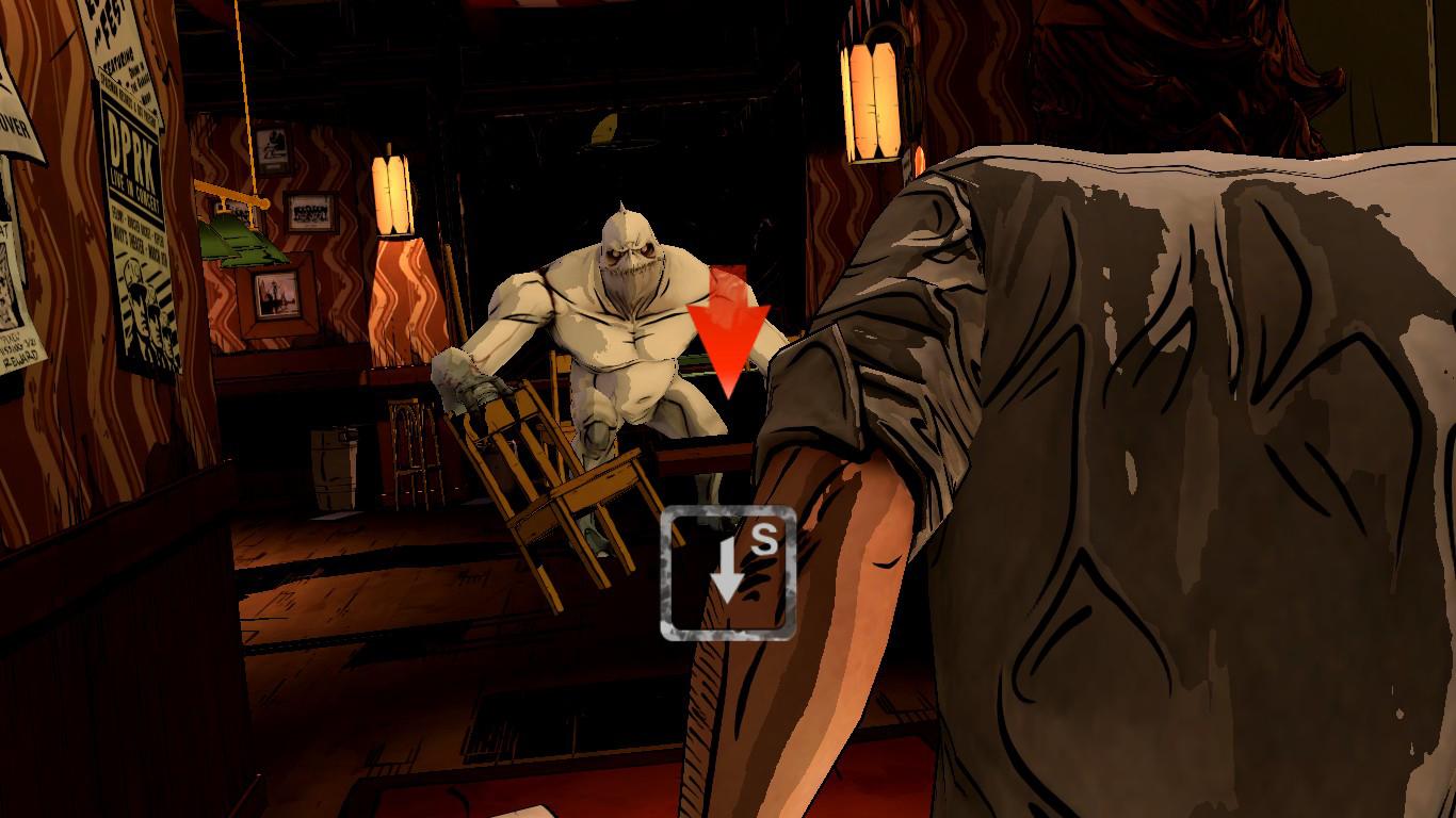 Em momentos como este, o jogador deve pressionar a tecla de acordo com seus reflexos, normalmente em momentos de esquiva.