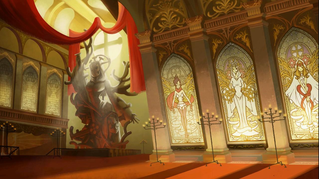 A igreja da Trindade - um dos cenários do jogo.