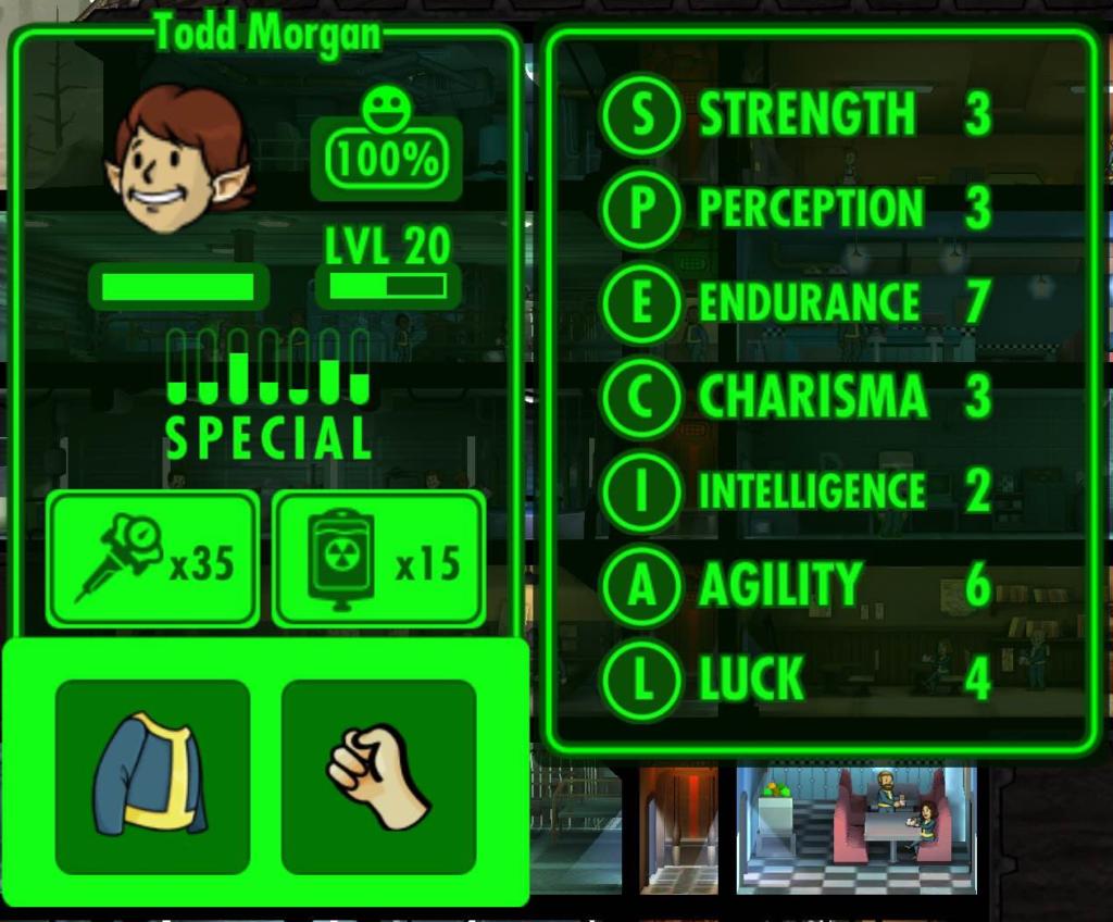 fallout shelter atributos