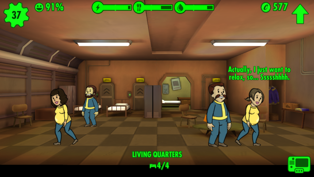 fallout shelter pregnant