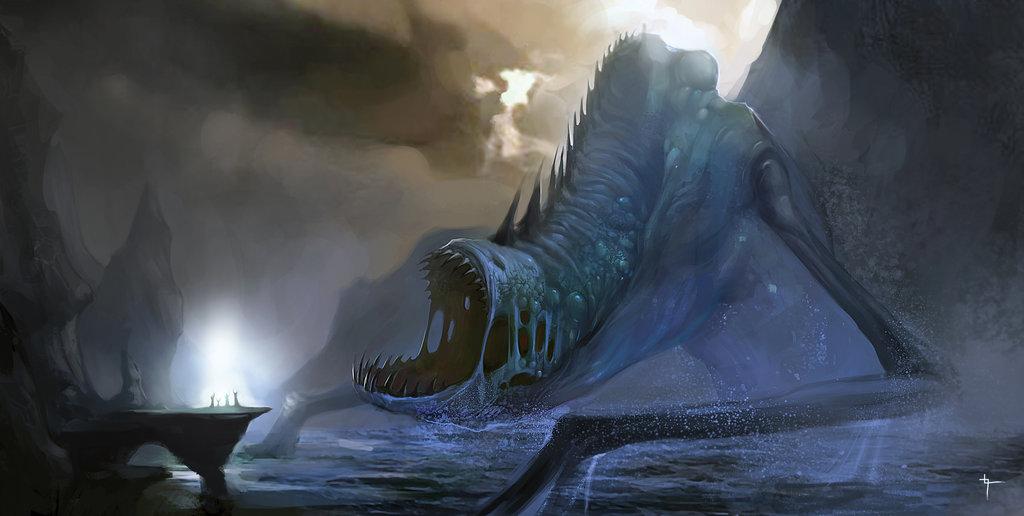 Ilustração de Dagon, o Deus-Peixe